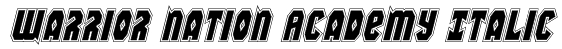 Warrior Nation Academy Italic Font