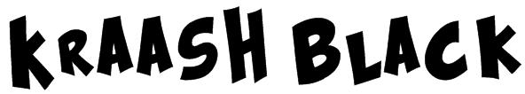Kraash Black Font
