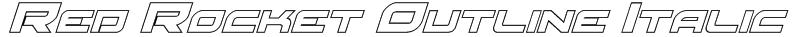 Red Rocket Outline Italic Font