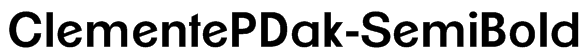 ClementePDak-SemiBold Font