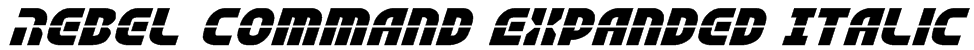 Rebel Command Expanded Italic Font