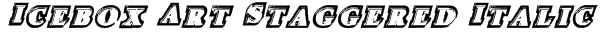 Icebox Art Staggered Italic Font