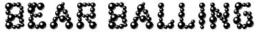 bear balling Font