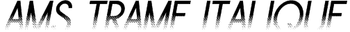 Ams Trame Italique Font