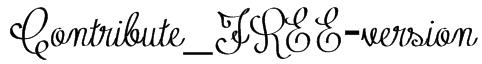 Contribute_FREE-version Font