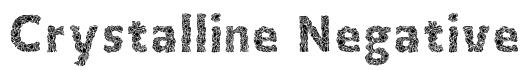Crystalline Negative Font