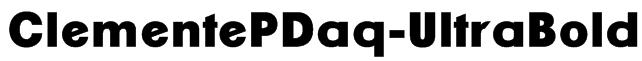 ClementePDaq-UltraBold Font