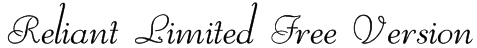 Reliant Limited Free Version Font