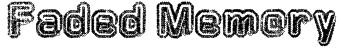 Faded Memory Font