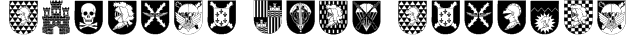 Spanish Army Shields Font