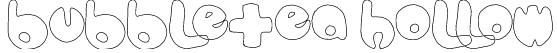 bubbletea hollow Font