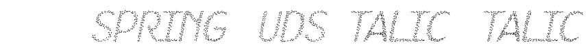 HKH Spring Buds Italic  Italic Font
