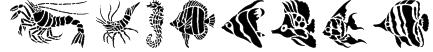 HFF Aqua Stencil Font