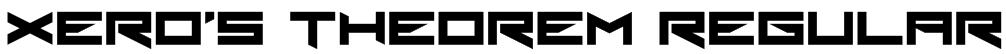 Xero's Theorem Regular Font