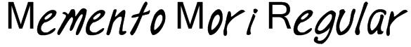 Memento Mori Regular Font