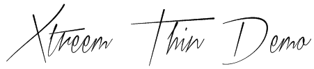 Xtreem Thin Demo Font