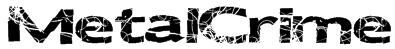 MetalCrime Font