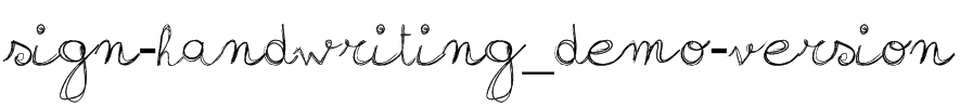 sign-handwriting_demo-version Font