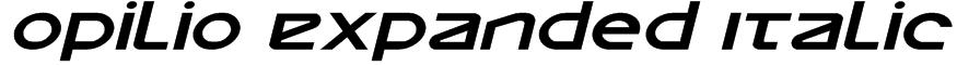 Opilio Expanded Italic Font