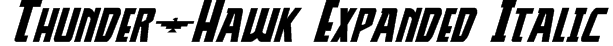 Thunder-Hawk Expanded Italic Font