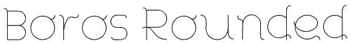 Boros Rounded Font