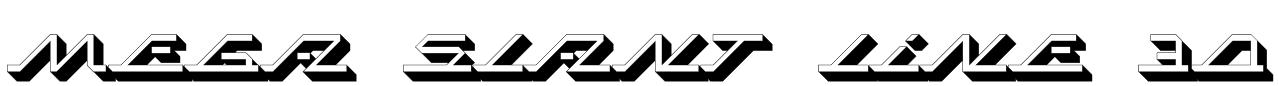 MEGA SLANT LINE 3D Font
