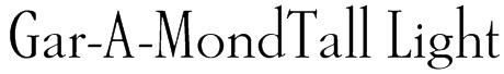 Gar-A-MondTall Light Font