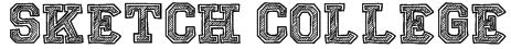 Sketch College Font
