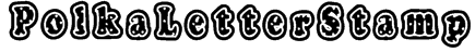 PolkaLetterStamp Font