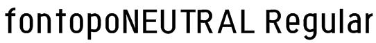 fontopoNEUTRAL Regular Font