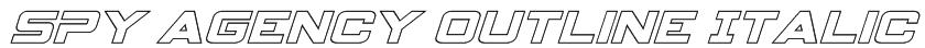Spy Agency Outline Italic Font