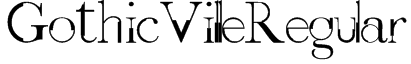 GothicVilleRegular Font