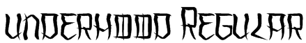 underhood Regular Font