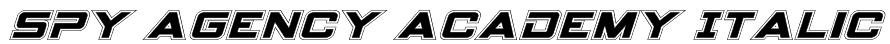 Spy Agency Academy Italic Font