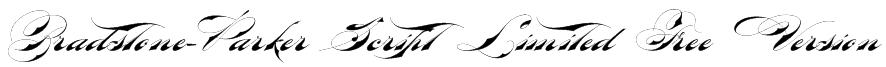Bradstone-Parker Script Limited Free Version Font
