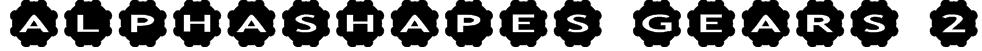 AlphaShapes gears 2 Font