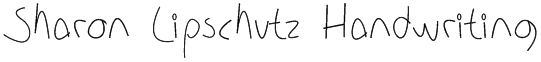 Sharon Lipschutz Handwriting Font