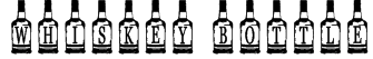Whiskey Bottle Font