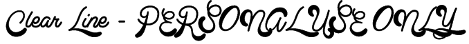 Clear Line - PERSONAL USE ONLY Font