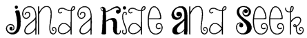 Janda Hide And Seek Font