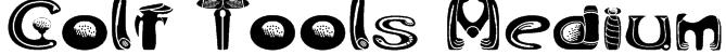 Golf Tools Medium Font
