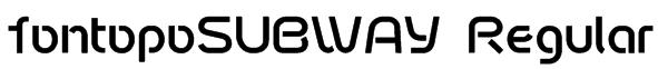 fontopoSUBWAY Regular Font