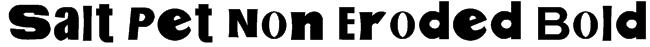 Salt Pet Non Eroded Bold Font