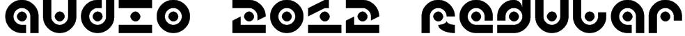 audio 2012 Regular Font