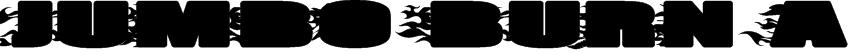 JUMBO BURN A Font