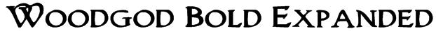 Woodgod Bold Expanded Font
