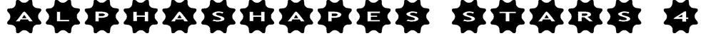 AlphaShapes stars 4 Font