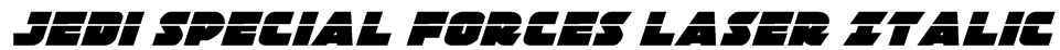 Jedi Special Forces Laser Italic Font