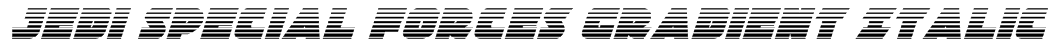 Jedi Special Forces Gradient Italic Font