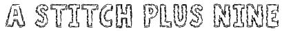 A Stitch Plus Nine Font